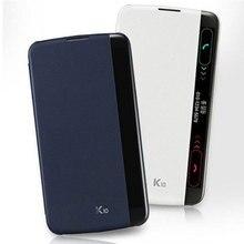 สำหรับLG K10 2016ฝาครอบกรณีสมาร์ทQuickฝาครอบด้านข้างหน้าต่างดูหนังโทรศัพท์กระเป๋าสำหรับLG K10 K 10 LTE K410 K420N K430 K430ds Capas