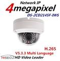 H.265 WIFI 4MP Câmera Multi Language CCTV Ao Ar Livre Câmera IP 1080 p POE IP WI-FI Câmera Com Áudio DS-2CD2145F-IWS 2.8mm