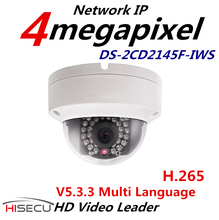 H.265 WIFI IP Cámara de $ NUMBER MP Multi Language CCTV Cámara Al Aire Libre 1080 p POE Cámara IP WIFI Con Audio DS-2CD2145F-IWS 2.8mm