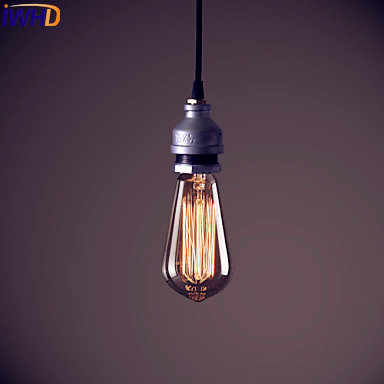 IWHD LED Edison Water Pipe Pendant Lights Fixtures Home Indoor Lighting Style Loft Industrial Vintage Lamp Hanglamp Lamparas iwhd loft style iron water pipe pendant light fixtures hemp rope edison vintage industrial lighting mirror glass hanging lamp