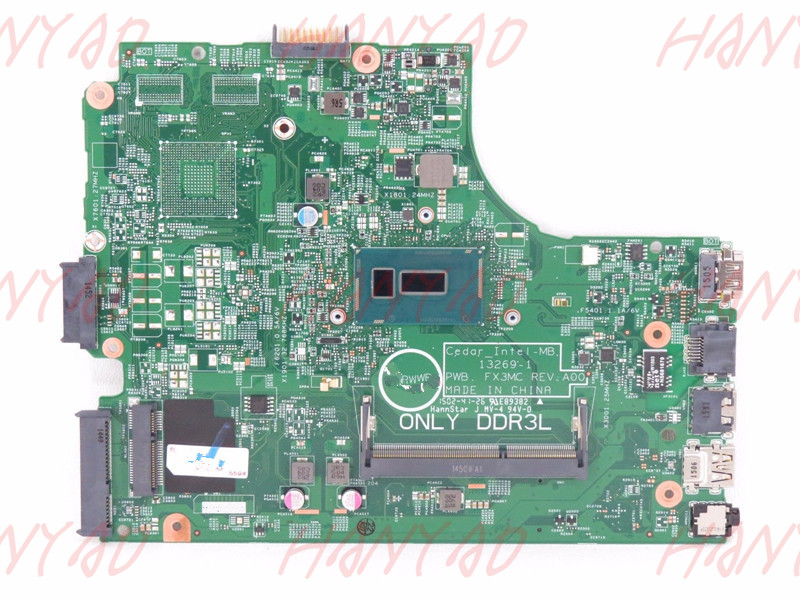 CN 0V28DP 0V28DP V28DP For DELL 3543 3443 Series Classy Laptop Motherboard 13269 1 PWB FX3MC MB With i7 cpu Processor in Laptop Motherboard from Computer Office