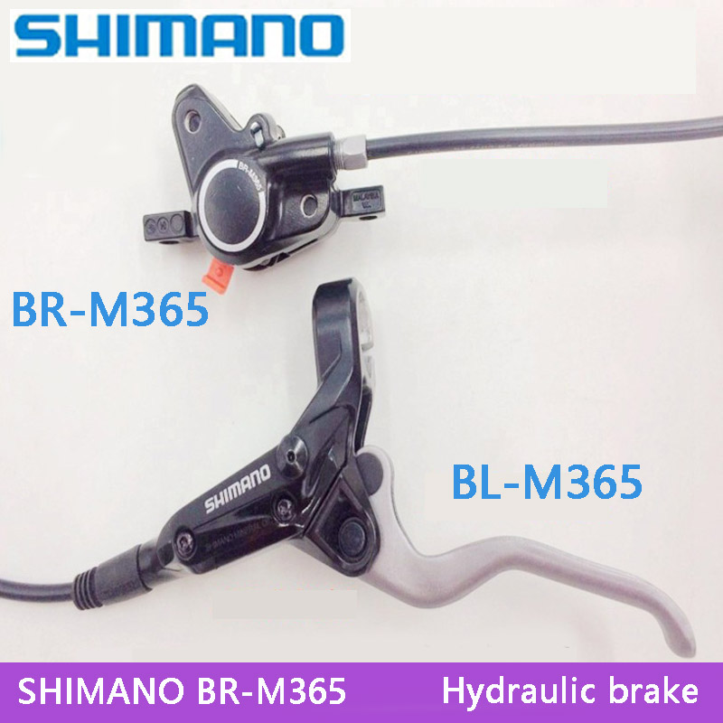 SHIMANO M365 MTB Bike Hydraulic Disc Brake Set Clamp Mountain for Deore/XT Brake Bicycle Disc Brake & Brake Sheet Screws shimano slx bl m7000 m675 hydraulic disc brake lever left right brake caliper mtb bicycle parts