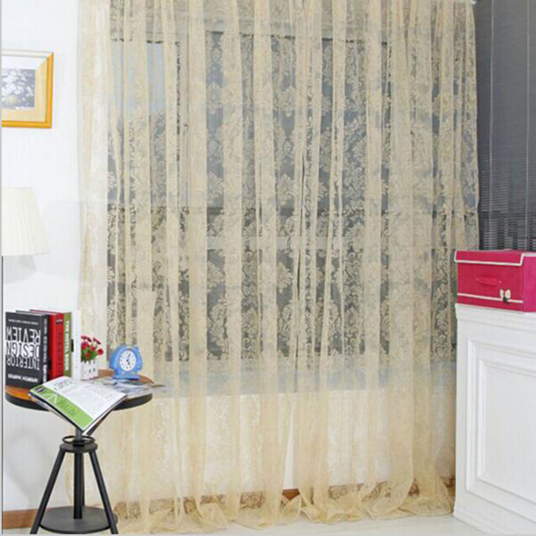 Us 3 18 30 Off New Fashion Finished Window Screening Tulle Modern Sheer Curtains For Living Room The Bedroom Fabric For Curtain In Stock In Curtains