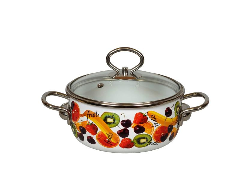 Pan VITROSS, Fruits, 1,5 L, with glass cover pan vitross fruits 3 l with glass cover