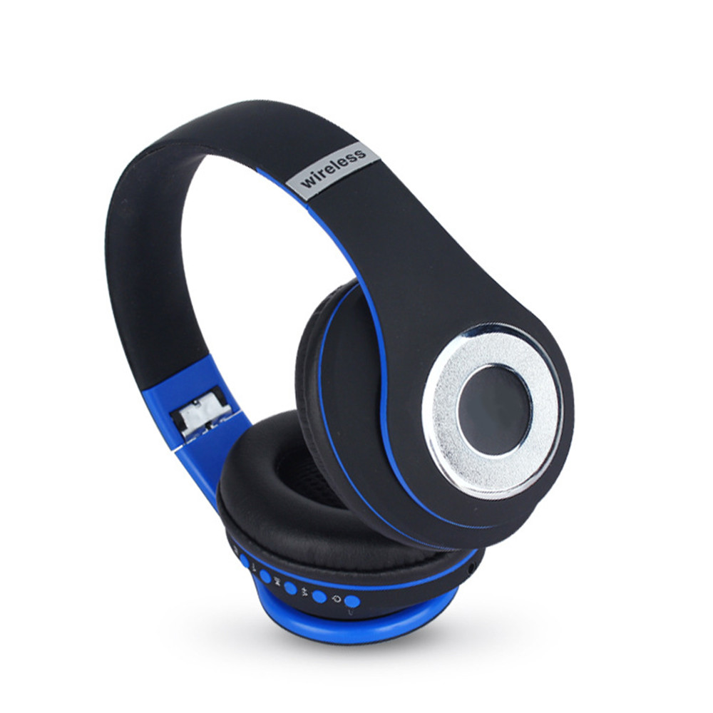 stereo handsfree headfone casque audio bluetooth bluetooth headset big earmuff earmuff. Black Bedroom Furniture Sets. Home Design Ideas