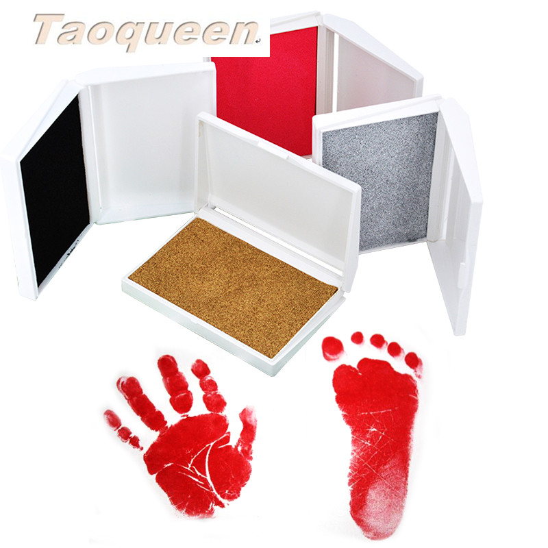 Taoqueen Baby Care Non-Toxic Baby Handprint Footprint Imprint Newborn Hand Foot Print Pad  Infant Clay Toy