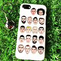 For iphone 5 5S Funny Interesting Football Player Cartoon Avatar Hard Cover Case For iPhone 6 6s 6plus 6Splus 5C 7 and FREE Gift