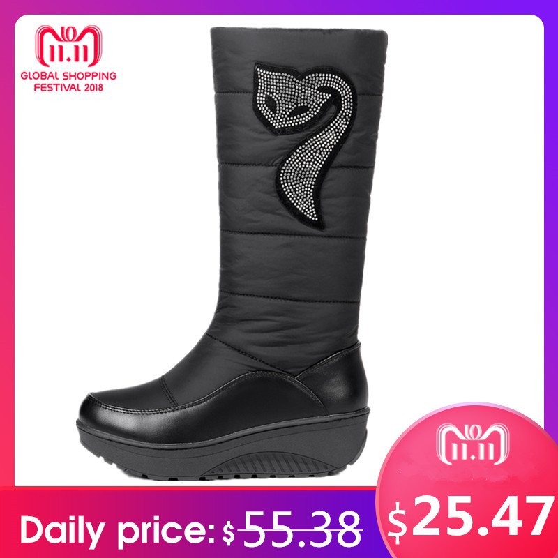 MORAZORA Plus size 35-44 new women winter boots fur warm cotton down shoes waterproof snow boots fur platform mid calf boots gsm alarm system with multi language english german italian dutch menu for option home security 7 inch touch screen home alarm