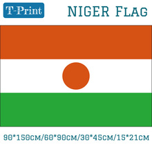 Free shipping Niger National Flag 90*150cm/60*90cm/15*21cm 3x5ft Printed Banner with Brass Metal Holes 30*45cm Car