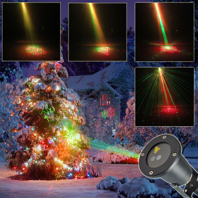 eshiny rg remote outdoor waterproof 8 xmas patterns laser projector landscape dance club party tree garden