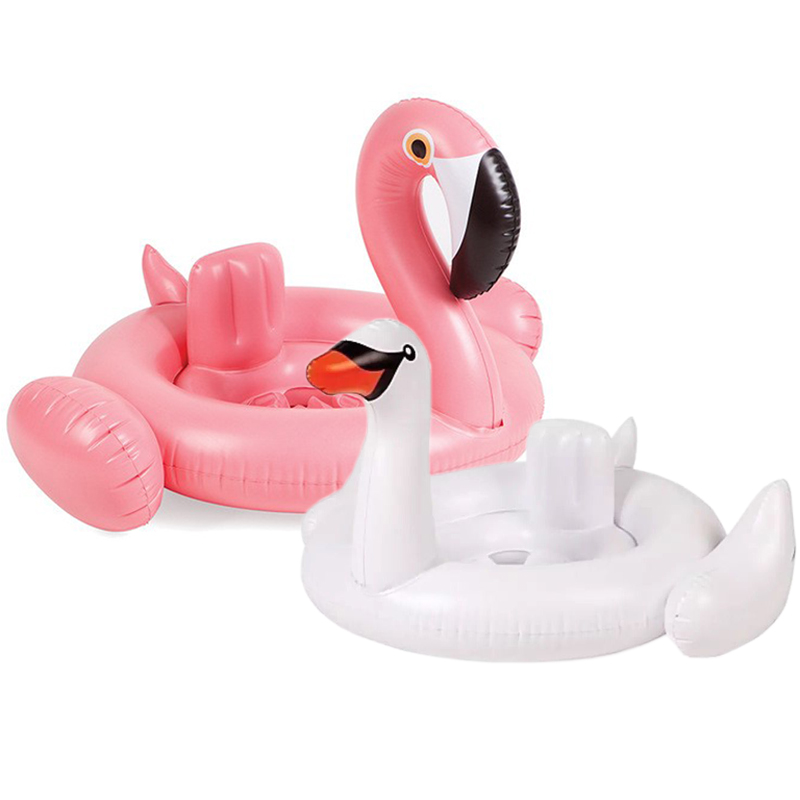 Baby Flamingo Float Ring Kids Swimming Pool Float Baby Swan Swim Ring Pink Float For Pool Baby Flamingo Inflatable Ring