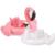 Flamingo Flotador del bebé Anillo de Natación Niños Piscina Flotante Anillo de la Nadada Del Bebé Cisne Rosa Flamingo Flotador Para Piscina Del Bebé Inflable Anillo