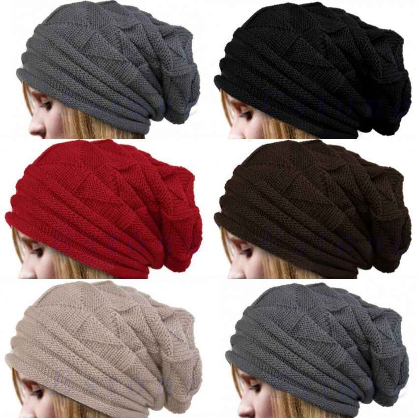 d096604fc Newest Hot Men Women Knit Oversize Baggy Slouchy Beanie Warm Winter Hat Ski  Chic Cap Skull Fresh Fashion Autumn Girl