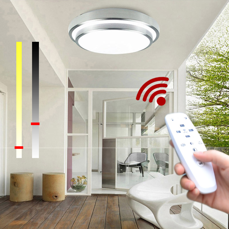 Strange Us 33 02 35 Off Led Ceiling Lights Change Color Temperature Ceiling Lamp 24W Smart Remote Control Dimmable Bedroom Living Room Eye Protected In Download Free Architecture Designs Momecebritishbridgeorg