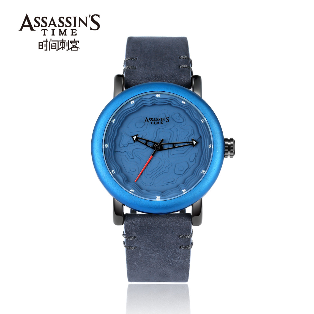 Assassin's Time Leather Band Watch meeste top brändi luksuslik - Meeste käekellad - Foto 4