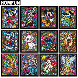 HOMFUN Full SquareRound Drill 5D DIY Diamond Painting Cartoon characters 3D Embroidery Cross Stitch 5D Rhinestone Decor