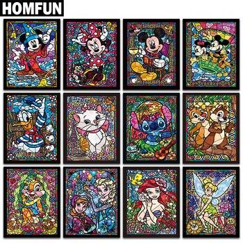 "HOMFUN Full Square/Round Drill 5D DIY Diamond Painting ""Cartoon characters"" 3D Embroidery Cross Stitch 5D Rhinestone Decor"