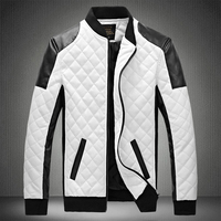 2019 Mens Leather Jackets Casual High Quality Classic Motorcycle Bike Jacket Men Plus Velvet Thick Coats Winter chaqueta hombre