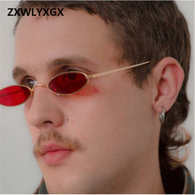 2019 new unisex oval sunglasses retro flat mirror fine metal sunglasses