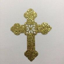 Happymems Ipcs крест Железный На Патчи золотой блеск Железный На Патчи для художественного украшения одежды Железный На Патчи