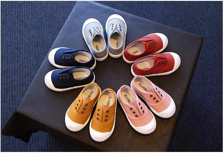 Kids Shoes 2018 Spring Autumn Children Casual Shoes Boys Girls Canvas Shoes Soft Comfortable Slip-on Sneakers Size 21-30
