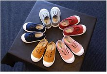 Kids Shoes 2018 Spring Autumn Children Casual Shoes Boys Girls Canvas Shoes Soft Comfortable Slip-on Sneakers Size 21-30(China)