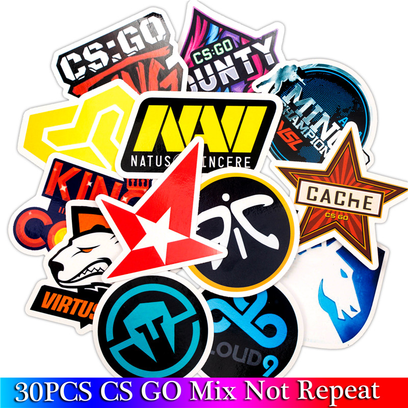 30PCS Pack CS GO Game Stickers Set Funny Stickers For Kids Luggage Skateboard Laptop Fashion Stickers For Children