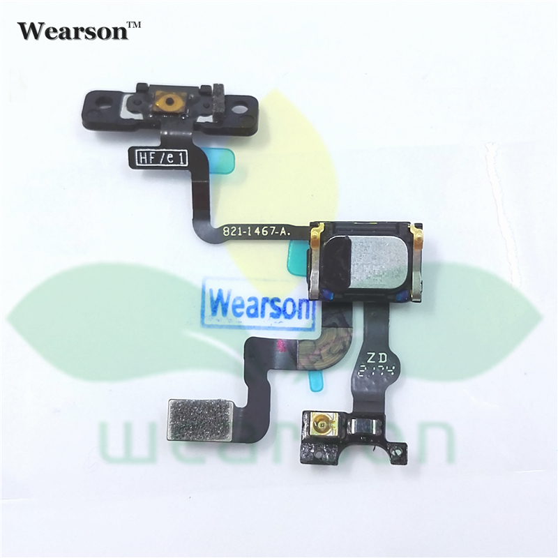 For iPhone 4S Power ON OFF Button Key Flex Cable With Light Sensor 4s Speaker Receiver Free Shipping With Tracking Number
