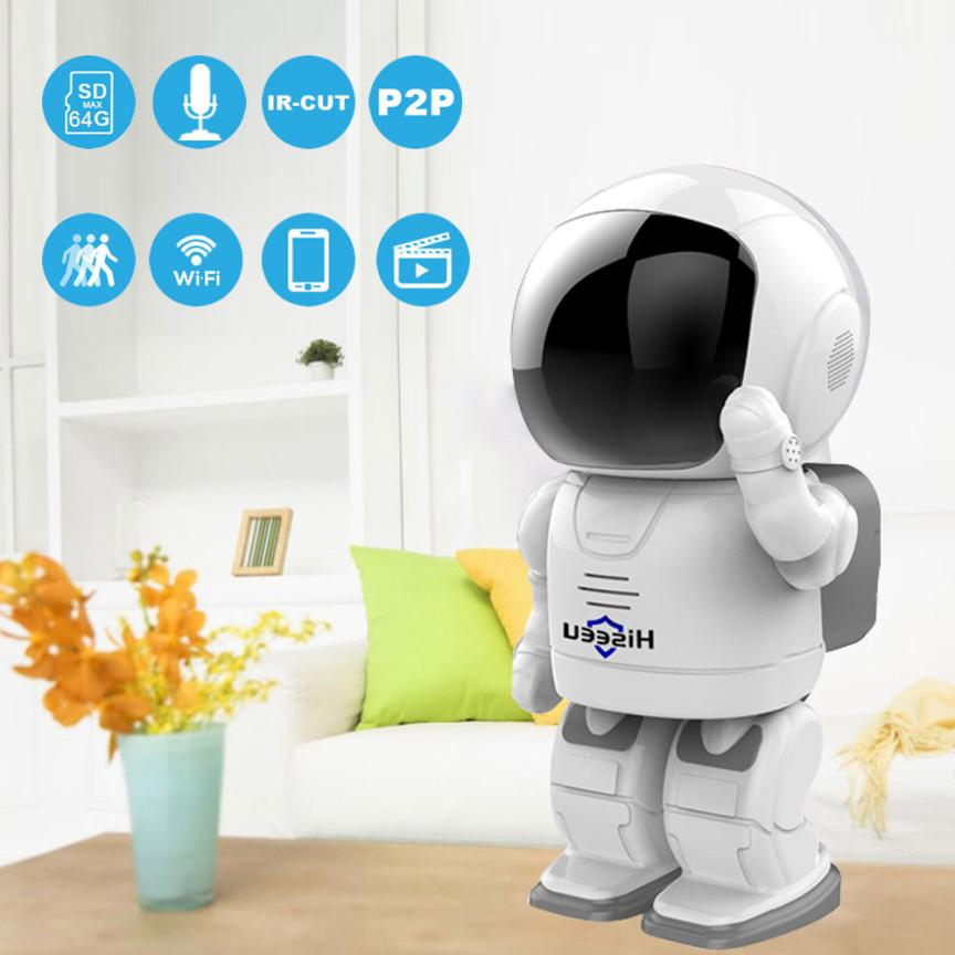 960P 1.3MP HD Wifi Wireless IP Camera Night Vision Network Camera CCTV Robot Camera Baby Monitor Support Two-Way Audio Hiseeu 42 robot camera wifi 960p 1 3mp hd wireless ip camera ptz two way audio p2p indoor night vision wi fi network baby monitor security