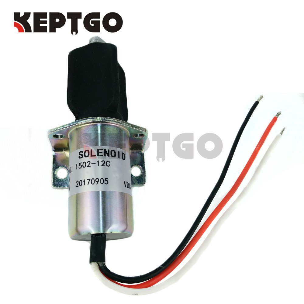 10138PRL 3-Wire 12v Fuel Shutoff Solenoid For Corsa Electric Captain's Call Systems 1502-12C 1502 12a6u1b1 for solenoid 1500 2004 12v 1502