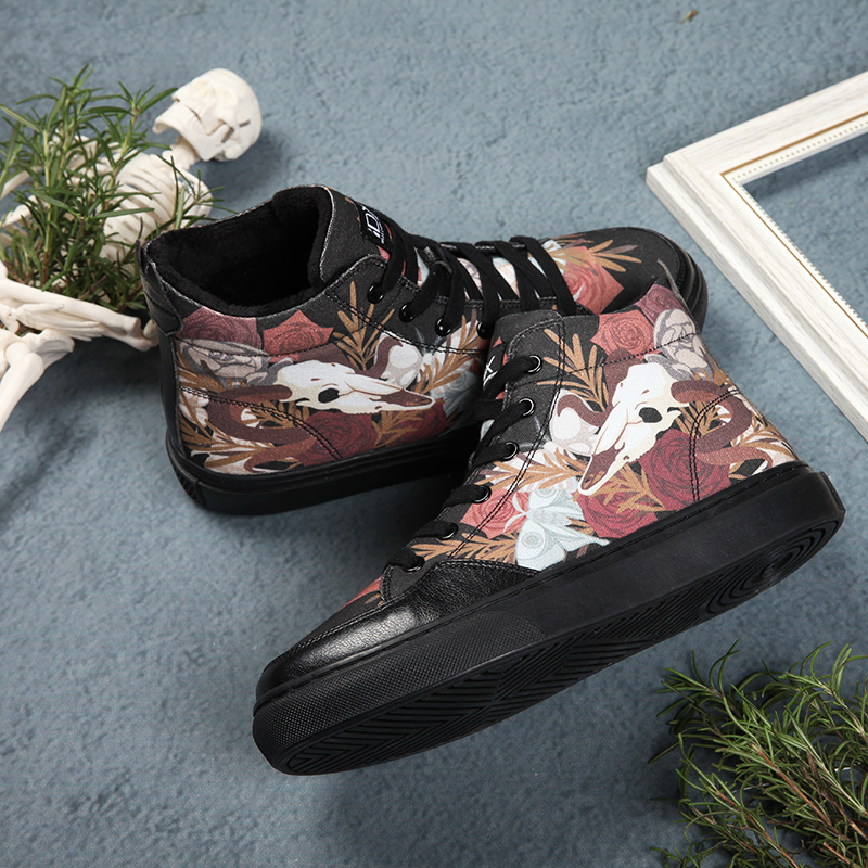 Moutons Workshoes De Mode D'origine Noir Femme Toile Idx Graffiti Confortable Culture Rue nwvNm08