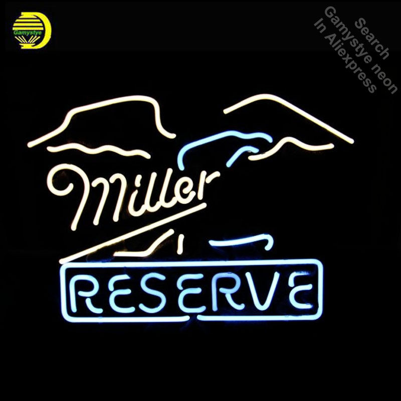 Neon Sign for Miller Reserve Logo Neon Bulb sign Iconic handcraft neon signboard coffee shop neon wall lights anuncio luminos