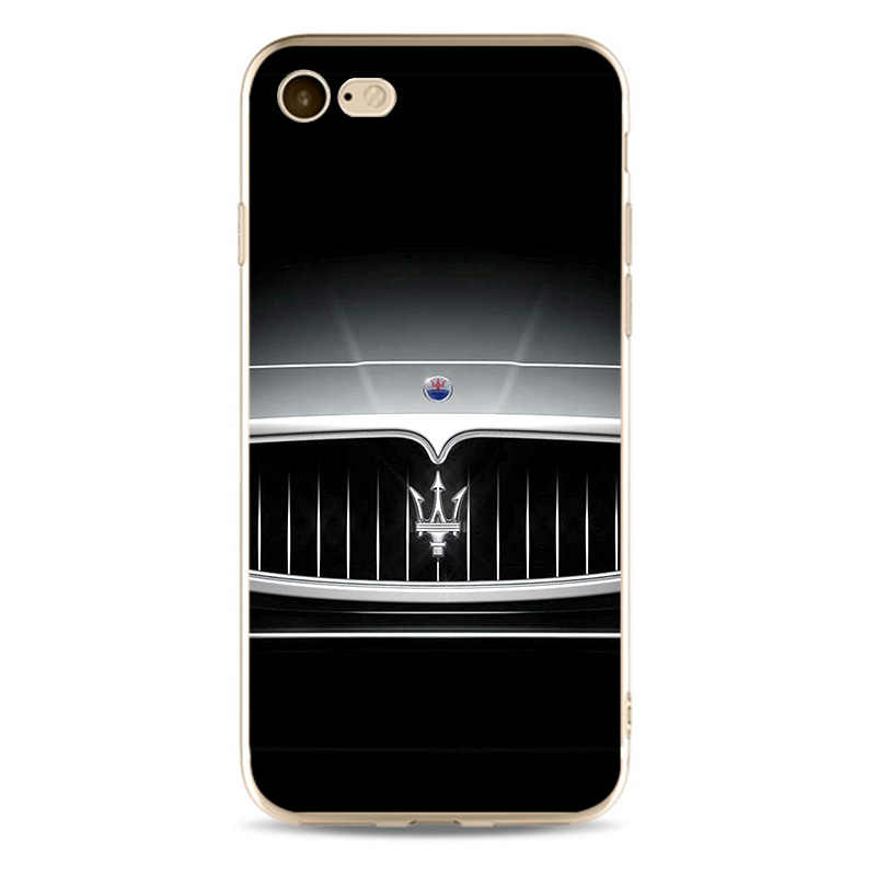 quality design 89073 40dd3 Super car Maserati Cover Soft Silicone high quality TPU Phone Case For  iPhone 5 5C 5S SE X 6 6S plus 7 7plus 8 8plus