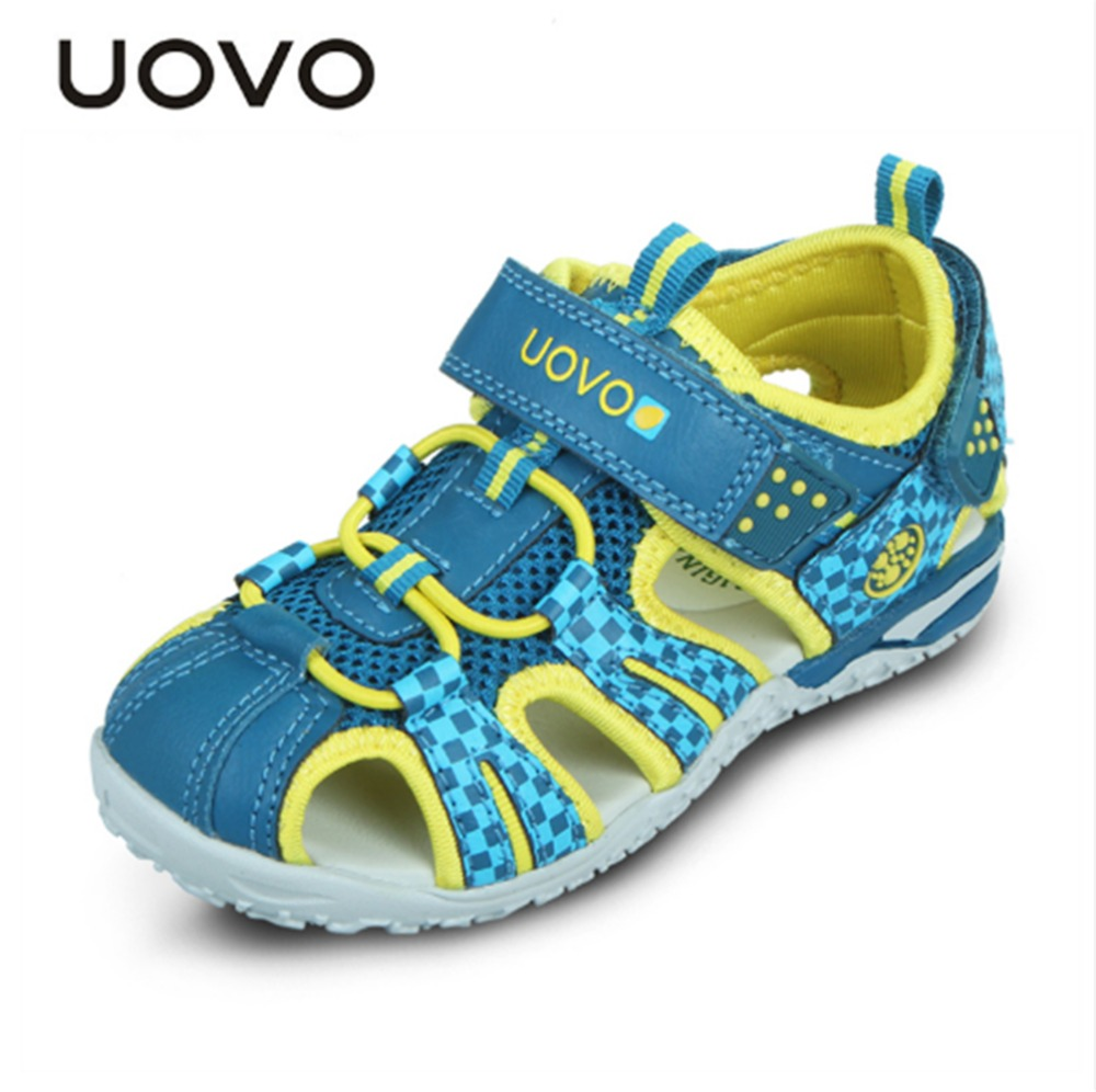 UOVO Summer New Children Shoes Kids Sandals For Boys And Girls Baotou Beach Shoes Breathable Comfortable Tide Children Sandals. uovo 2017 spring new kids shoes breathable canvas sandals for boys mesh summer sport sneakers girls eu size 27 33 italy brand