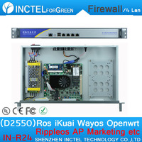Atom D2550 4 Gigabit LAN 1U ATOM Firewall Network Router with Rack Ears