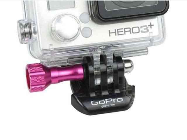 CNC en aluminium Mini vis avec capuchon bouton de pouce pour GoPro Hero 3 + 3 Plus caméra Action caméras accessoires vis rose violet bleu