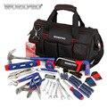 WORKPRO 156PC Thuis Tool Set Sanitair Tang Punttang Dual wrench Set Hamer Zag Schroevendraaier Bits Set Hex sleutel Tape Niveau