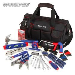 Workpro 156 pc conjunto de ferramentas para casa encanamento alicate agulha nariz alicate chave dupla conjunto martelo serra chave de fenda bits conjunto hex chave fita nível