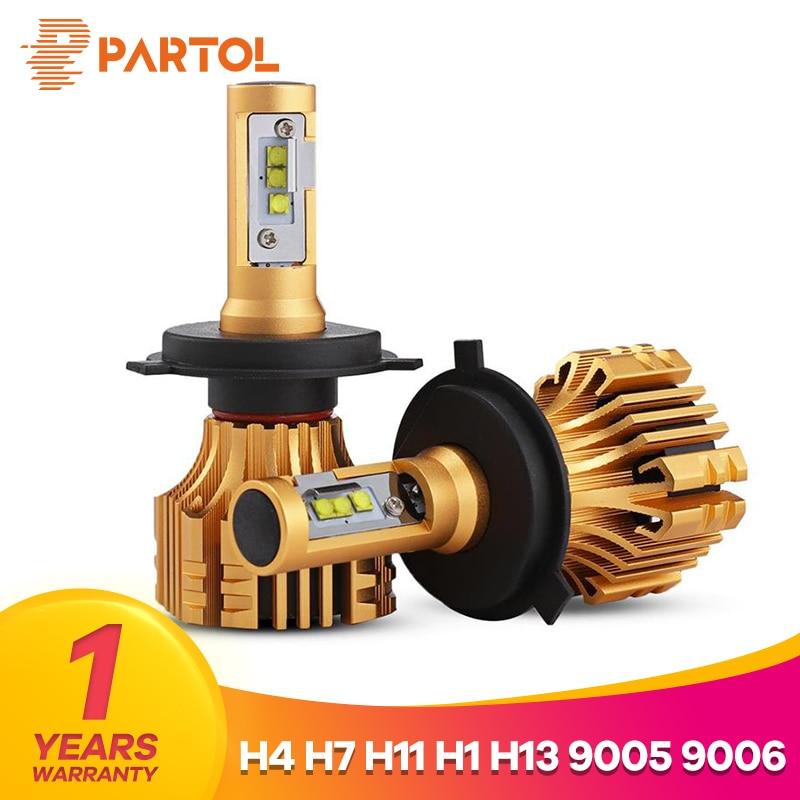 Partol S6 H4 H7 H11 Car LED Headlight Bulbs 70W 7000LM SMD Chips LED H1 9005 9006 H13 Automobile Headlamp Fog Light 6500K 12V