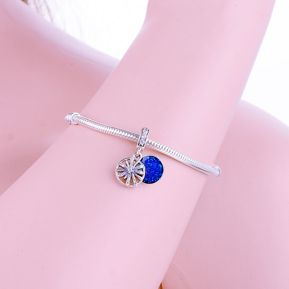 4b4d09228 Fit Original Pandora Charm Bracelet 925 Sterling Silver Bead Charm Dazzling  Firework Wishes Pendant Jewelry DIY Gift 2019 Winter-in Beads from Jewelry  ...