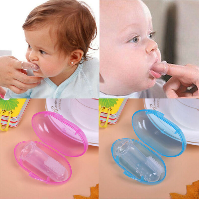 Soft Silicon Chewable Toothbrush Rubber Teeth Massager Brush For Kid Baby IT