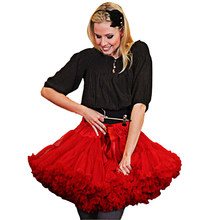 dd20a5f43 Fluffy Women(ONE SIZE) Pettiskirt Girls kid(XS-XXL) Party Dance Tutu tulle  Mini Skirt parent-child clothes 3layers petticoat