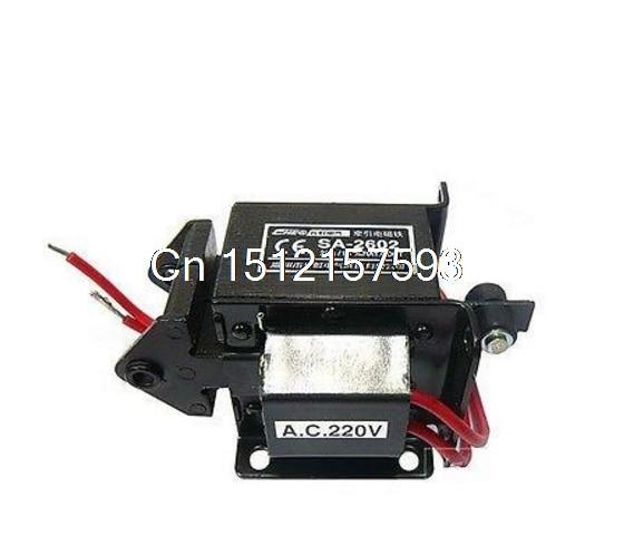 SA-2602 220V 110V Stroke 15mm AC Tractive Solenoid Electromagnet 2KG 20N Force 380v mq8 4001 20mm stroke force ac tractive magnet solenoid electromagnet page 7