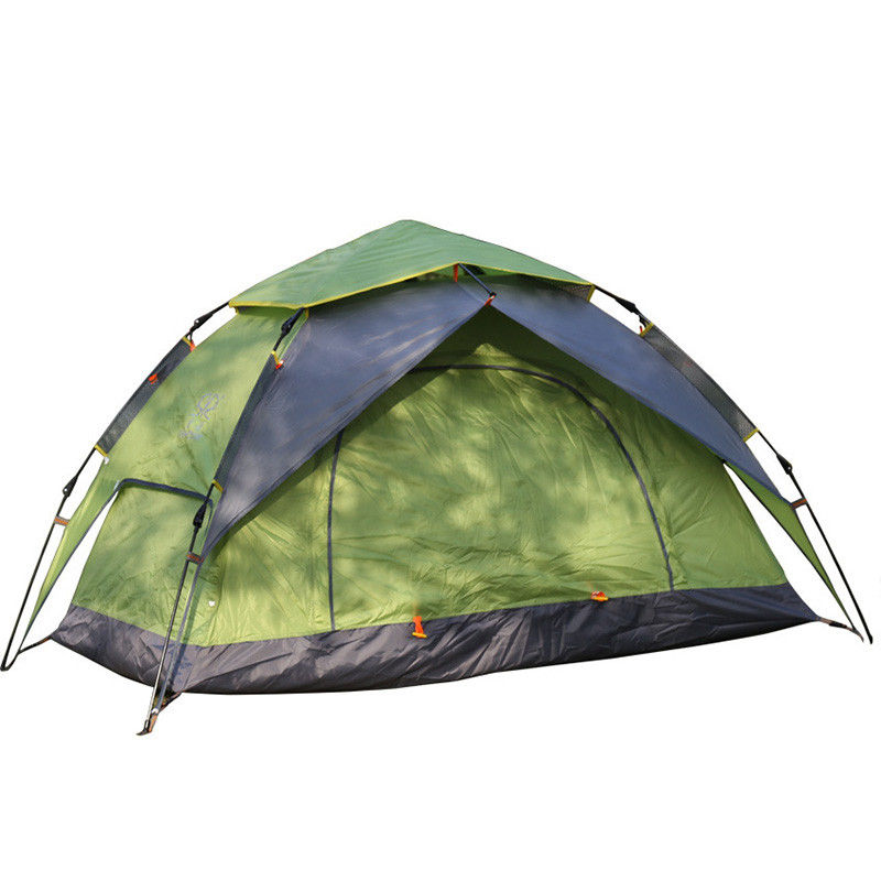 Outdoor 2 person Camping Tent Double Layer Automatic Tents Speed open Throwing Pop Up Windproof Camping Beach Tent CK112G недорго, оригинальная цена