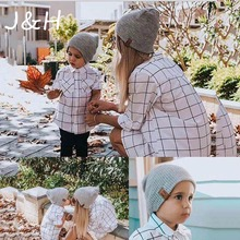 Hot Sale Autumn Winter Crochet Knit Solid Color Hat  Soft Warm Kid Parents Girls Boys Beanies Hats For Family Best Gift цены