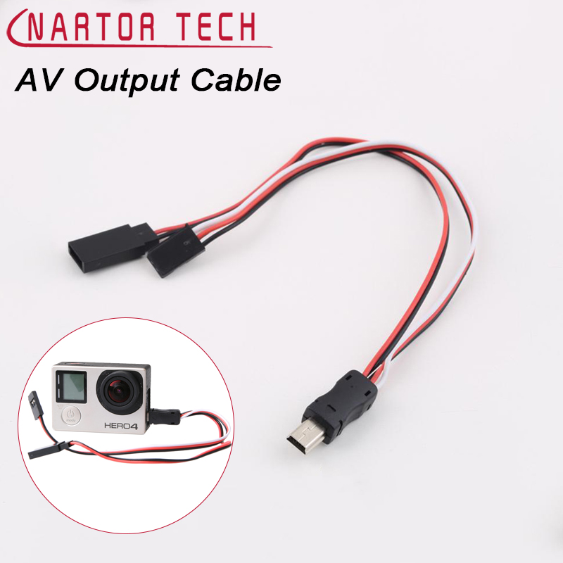 Nartor New Gopro3 Video AV Output Cable Line TX Cable Sport Action Camera FPV Rechargeable Micro USB Port