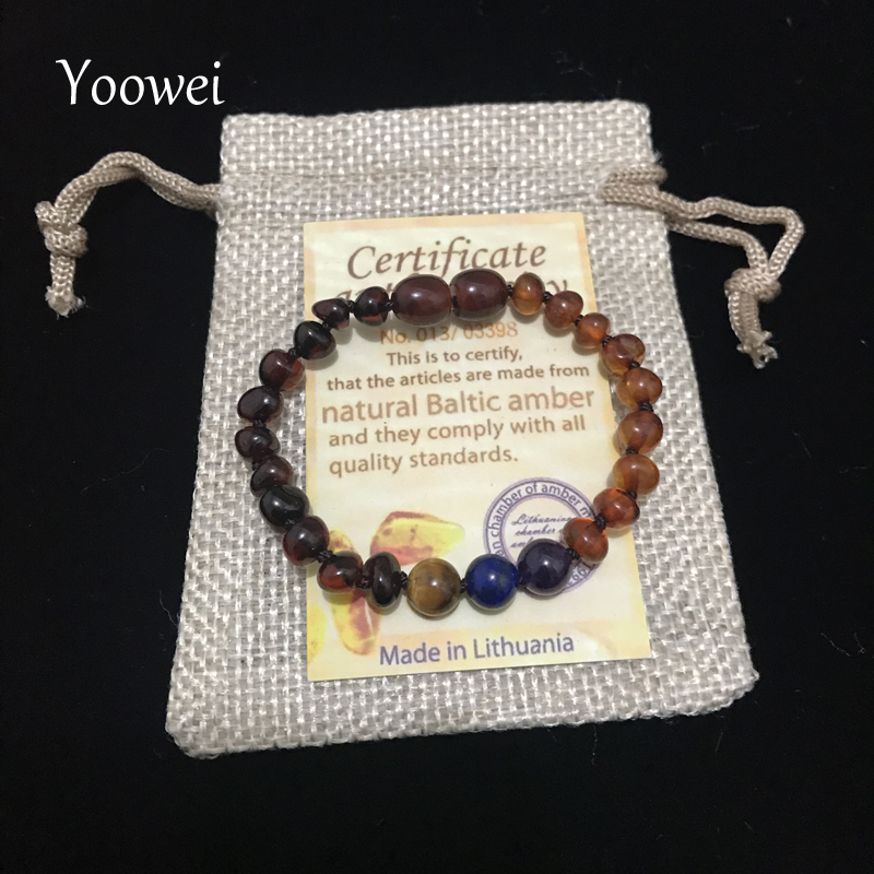 HTB1ibD2nbYI8KJjy0Faq6zAiVXap Yoowei 9 Color Baby Amber Bracelet/Necklace Natural Amethyst Gems Adult Baby Teething Necklace Baltic Amber Jewelry Wholesale