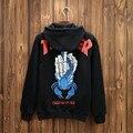 Para hombre Ropa de la Marca Thrasher Hoodies Plus Size XXL Sudaderas de Lana Dedo Medio Impreso Pullovers Streetwear Justin Bieber