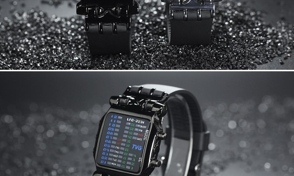Luxury Brand TVG Watches Men Fashion Rubber Strap LED Digital Watch Men Waterproof Sports Military Watches Relogios Masculino 10