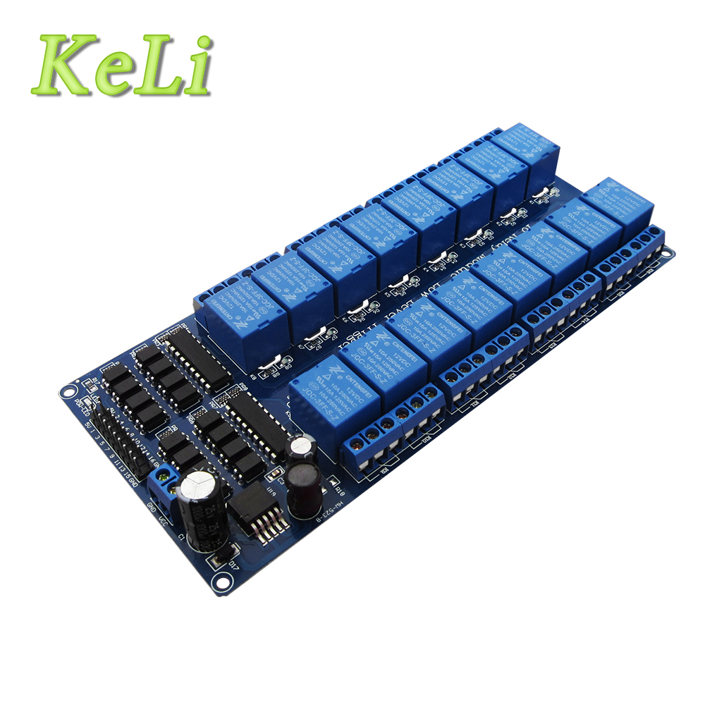 2017 Wholesale 12V 16 Channel Relay Module ARM PIC AVR DSP Electronic Relay Plate Belt optocoupler isolation